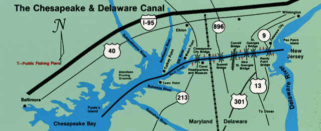 Chesapeake and Delaware Canal (C & D Canal)
